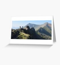 Snowdonia: Walkers on Crib Goch Greeting Card