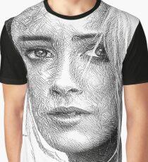 Female Portrait Sketch Drawing 1508 Graphic T-Shirt
