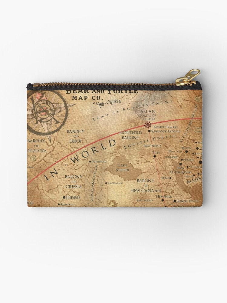 The dark tower mid world map studio pouches by octoberfifteen the dark tower mid world map by octoberfifteen gumiabroncs Image collections