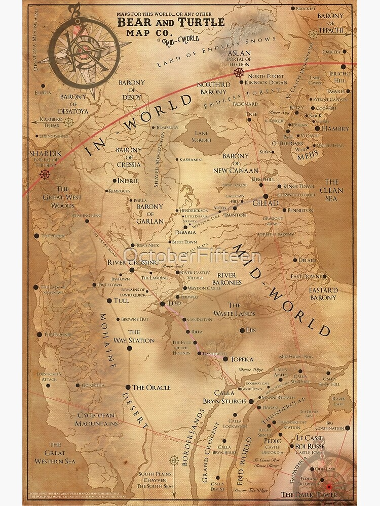 The Dark Tower - Mid-World Map | Poster