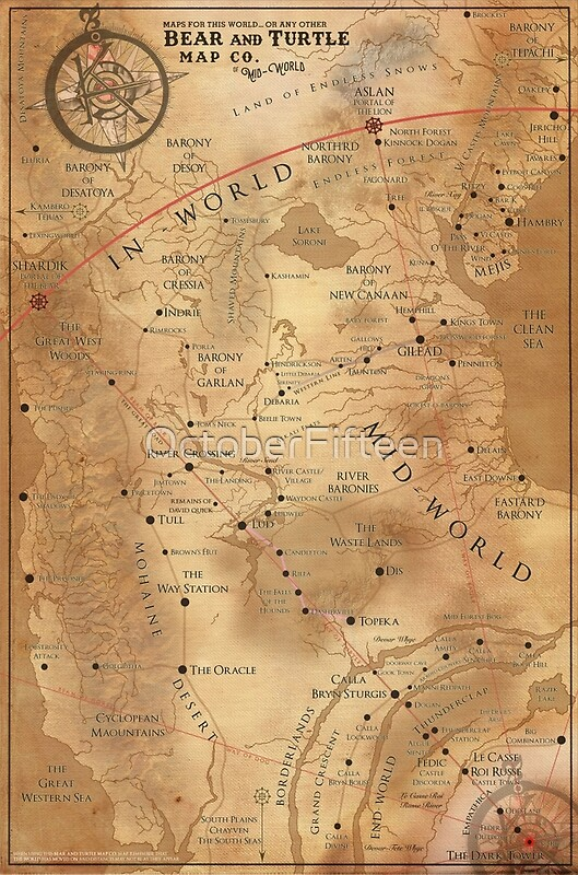 The Dark Tower Mid World Map Canvas Prints by OctoberFifteen