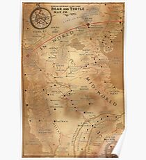 Stephen King Map Of Maine.Stephen King Posters Redbubble