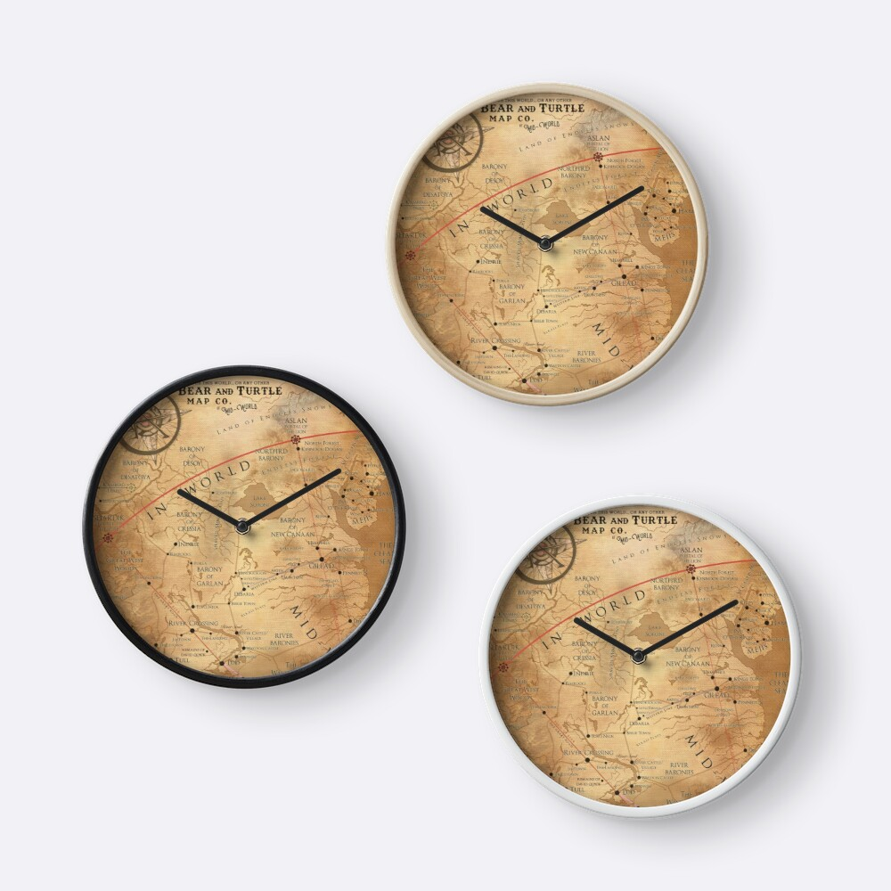 The dark tower mid world map clocks by octoberfifteen redbubble the dark tower mid world map gumiabroncs Gallery