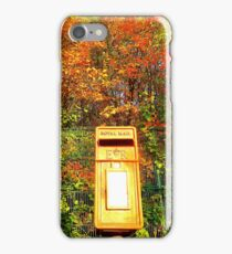 Mail Box And Autumn Leaves iPhone Case/Skin