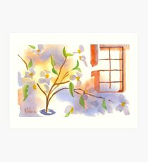 Missouri Dogwood in the Window Art Print