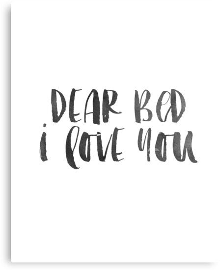 Bedroom Decor Dear Bed I Love You Printable Art Namast'Ay In Bed
