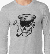 Skull Smoking a Pipe Long Sleeve T-Shirt