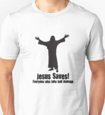 Jesus saves DnD Unisex T-Shirt