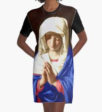 The Virgin In Prayer Graphic T-Shirt Dress