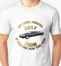 Class Of 2017 Prom My Limo Awaits Unisex T-Shirt