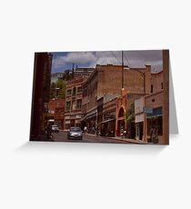 Main Street - Bisbee Az. Greeting Card