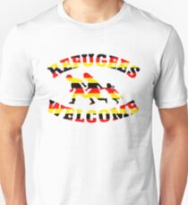 Refugees Welcome Germany Flag Colors T-Shirt