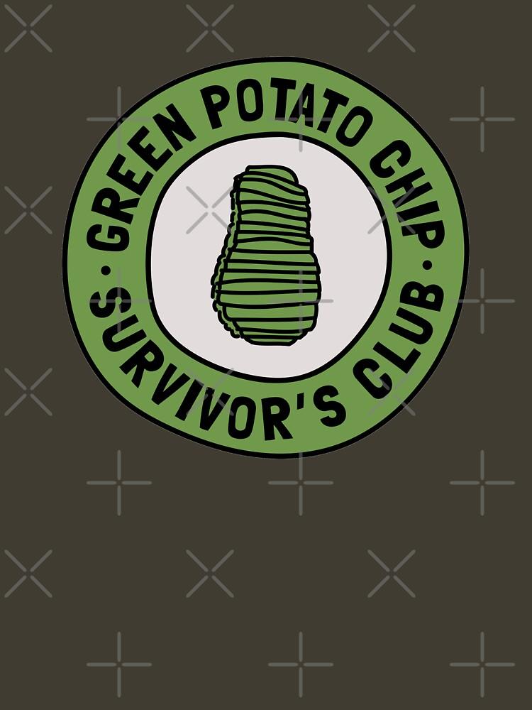 Green Potato Chip Survivor's Club by expandable