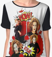 Kylie Minogue - Confide In Me - Comic Book Red Women's Chiffon Top