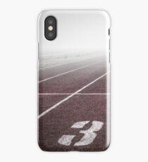 Track and Field Fog Scenery iPhone Case/Skin