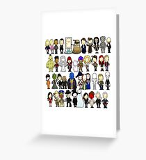 Doctor Who all together now Greeting Card