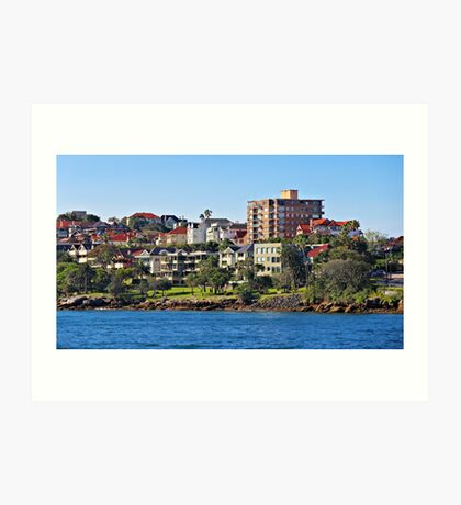 Harbour Homes, Sydney Art Print