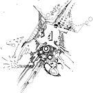 Along Those Lines - Pen & Ink Illustration by jeffjag