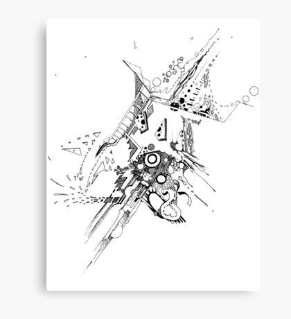 Along Those Lines - Pen & Ink Illustration Canvas Print