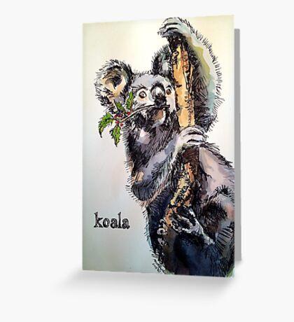 Christmas koala. Elizabeth Moore Golding© Greeting Card