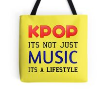 KPOP IS A LIFESTYLE - YELLOW Tote Bag