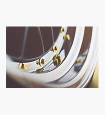 BBS LM with Gold Bolts and Polished Lips Photographic Print