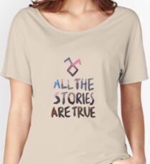 All the stories are true (watercolor) Women's Relaxed Fit T-Shirt