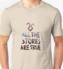 All the stories are true (watercolor) Slim Fit T-Shirt