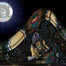 Moon Over Antipolar Mountain by barrowda