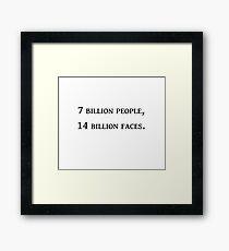 People Framed Print