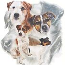 Parson (Jack) Russell Terrier w/Ghost by BarbBarcikKeith