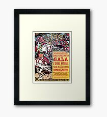 French National Opera medieval style vintage gala ad Framed Print