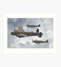 The Battle Of Britain Memorial Flight - Shoreham 2014 Art Print