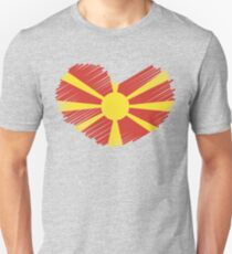 Macedonia Flag Heart T-Shirt
