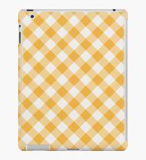 Gelber gingham iPad-Hülle & Klebefolie