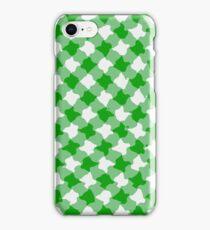 Green diagonal gingham design iPhone Case/Skin