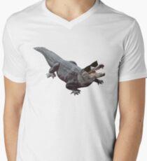 """""""Cool Gator"""" Men's V-Neck T-Shirt"""
