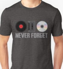 Never Forget Old Audio Formats T-Shirt