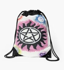 Supernatural Signs Drawstring Bag