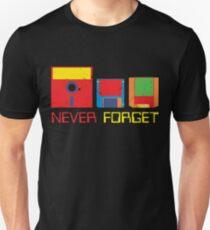 Never Forget Digital Data Formats Unisex T-Shirt