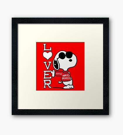 Snoopy Vintage 70's Framed Print