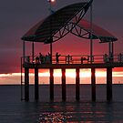 Sunrise over the pier by LouD