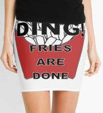 Fries are Done Mini Skirt