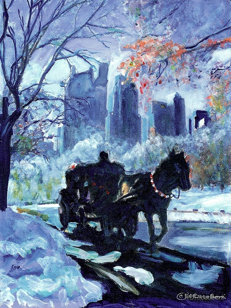 RD Riccoboni, New York City Horse and Carriage  by RDRiccoboni