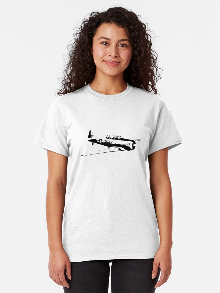 Alternate view of AT-6 Texan WW2 Trainer Classic T-Shirt
