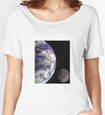 Earth and Moon Women's Relaxed Fit T-Shirt