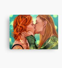 Love is Powerful Metal Print