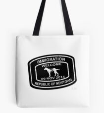 Republic of Newtown - 2014: White on Black Tote Bag