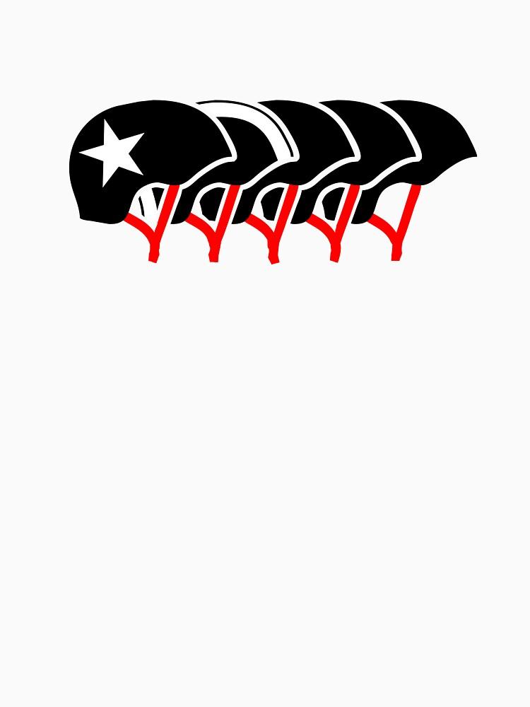 Cascos Roller Derby (diseño negro) de jezkemp