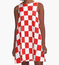 Croatia Checkerboard A-Line Dress